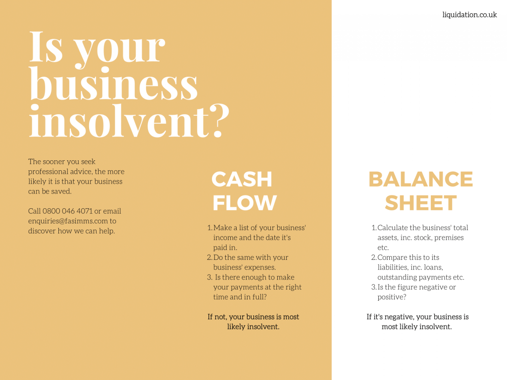 Benefits of insolvent liquidation.